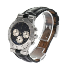 Load image into Gallery viewer, Bvlgari Diagono CH35S Quartz Steel Black 36mm Mens Watch