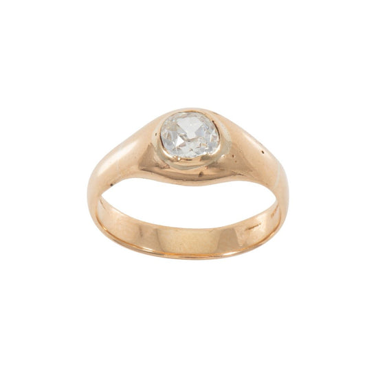 14ct Gold Ladies 0.74ct Diamond Solitaire Ring Size O