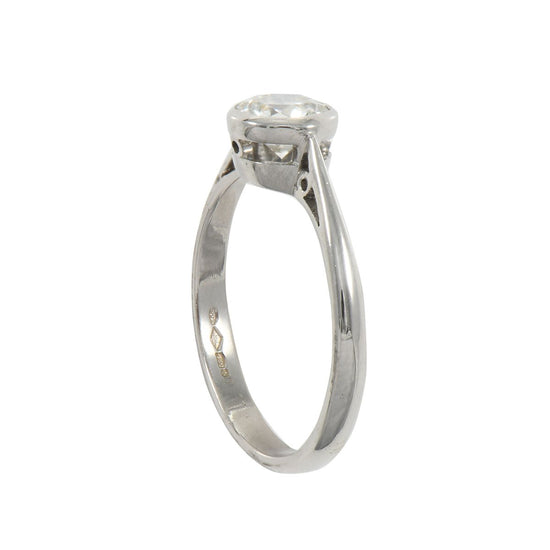 Ladies Platinum 0.80ct Diamond Solitaire Ring Size L
