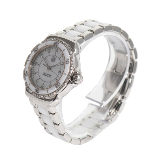 TAG Heuer Formula 1 WAH1313 Ladies Watch White Diamond & Steel 32mm
