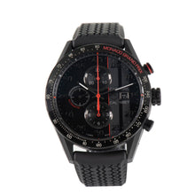 Load image into Gallery viewer, TAG Heuer Carrera CAR2A83 Black Rubber 44mm Mens Watch