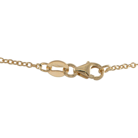"9ct Gold Stone Set Fancy Chain (18"")"