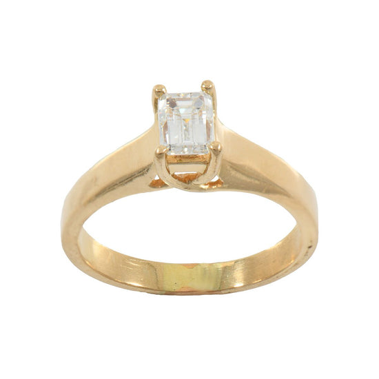 18ct Yellow Gold 0.70ct Diamond Solitaire Ring Size L