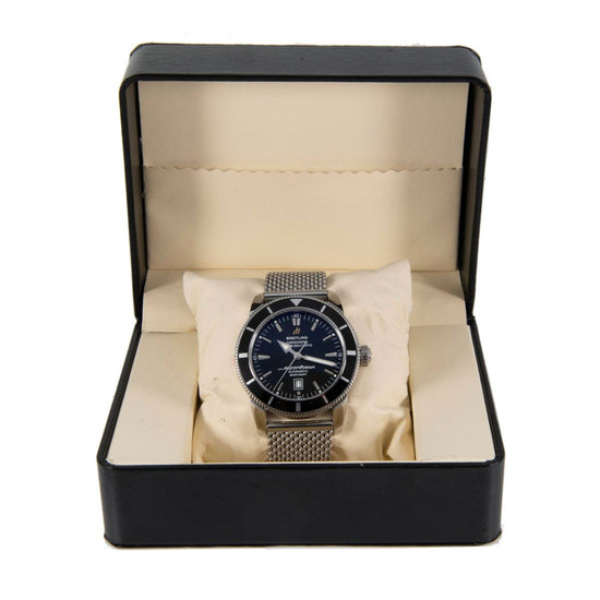 Breitling SuperOcean Heritage A17320 Steel & Black 46mm Mens Watch