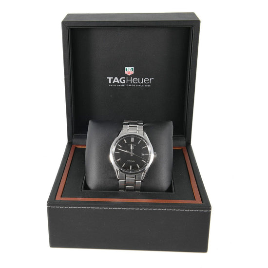 Tag Heuer Carrera Automatic WV211B-3 Stainless Steel Black Dial 38mm Mens Watch