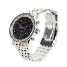 Load image into Gallery viewer, Breitling Montbrillant Chronograph A41370 Steel & Black 38mm Mens Watch
