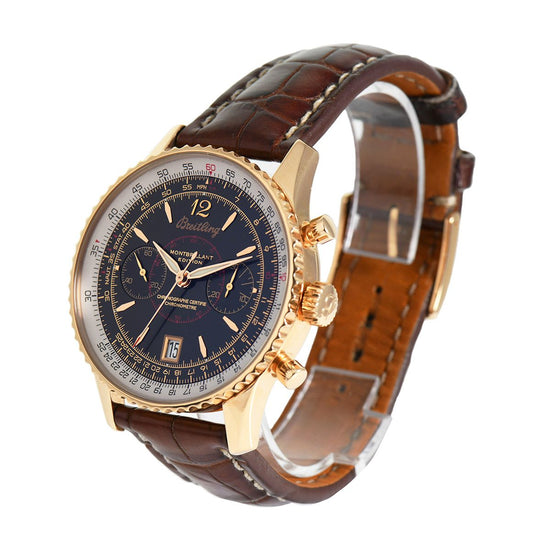 Breitling Montbrillant H4833012 Manual 18ct Gold 43mm Mens Watch