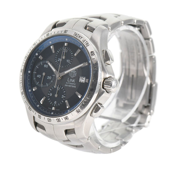Tag Heuer Link CJF2114 Steel Blue Triple Chronograph 42mm Mens Watch