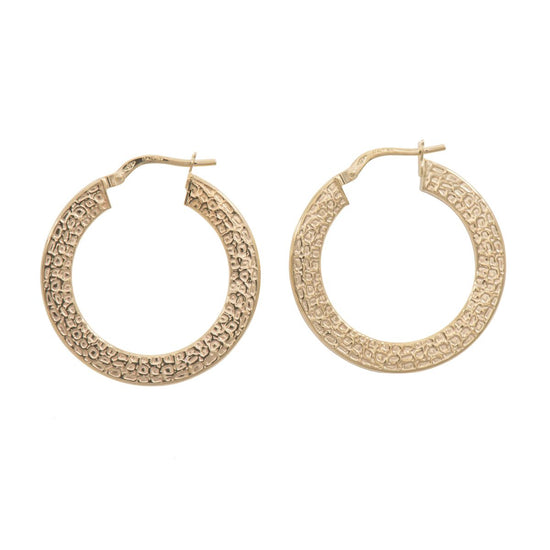 9ct Creole Hoop Earrings