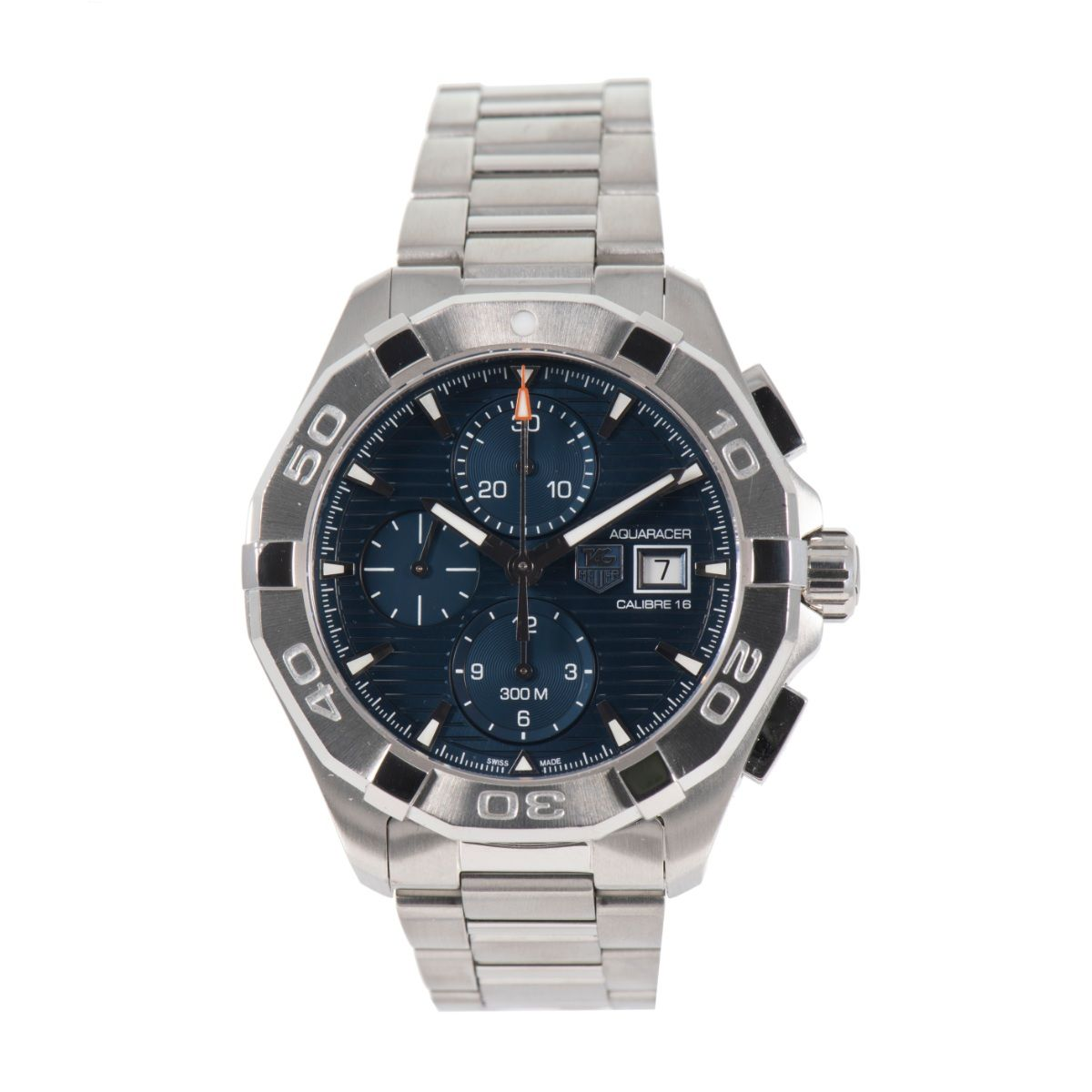 Tag Heuer Aquaracer Automatic Chronograph CAY2112 44mm Mens Watch Blue Dial