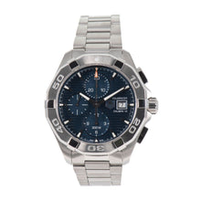 Load image into Gallery viewer, Tag Heuer Aquaracer Automatic Chronograph CAY2112 44mm Mens Watch Blue Dial