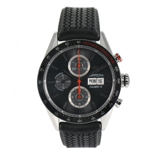 Tag Heuer Carrera CV2A1M Automatic Black 44mm Mens Watch