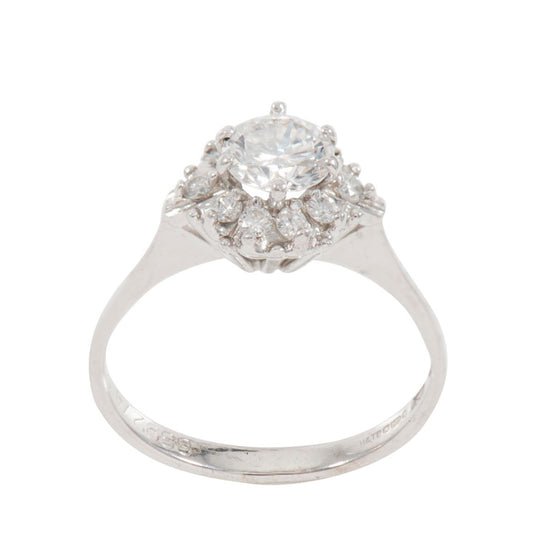 0.90ct Diamond Cluster Ring (N)