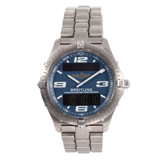 Breitling Aerospace E75362 40mm Titanium Mens Watch