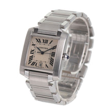 Load image into Gallery viewer, Cartier Tank Francaise 2302 - 28mm Stainless Steel Ladies Watch V4%F2D