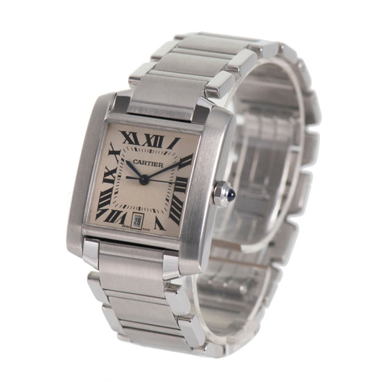 Cartier Tank Francaise 2302 - 28mm Stainless Steel Ladies Watch V4%F2D