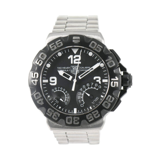 Tag Heuer F1 CAH7010 Chronograph Steel & Black 44mm Mens Watch