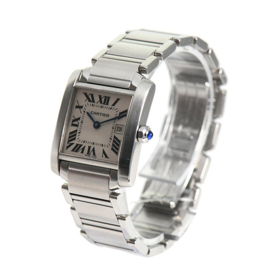 Cartier Tank Francaise 2465 - 25mm stainless Steel Ladies Watch