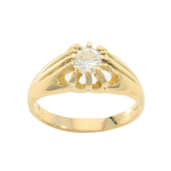 Ladies 18ct Gold 0.78ct Diamond Solitaire Ring U