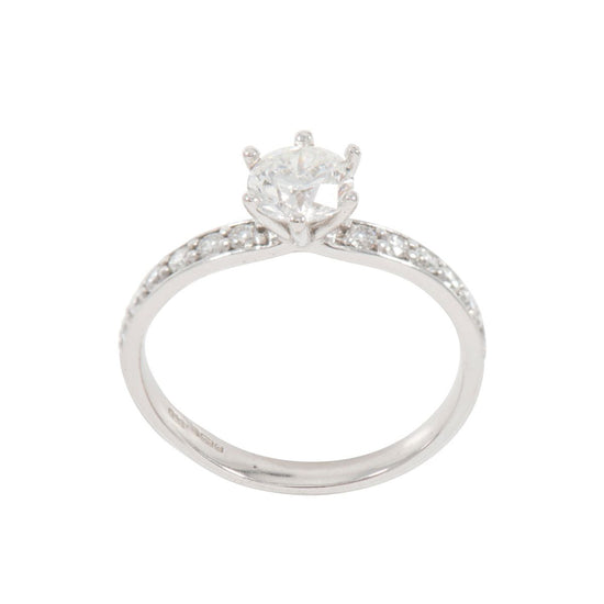 1.01ct Diamond Accent Solitaire Ring (M)