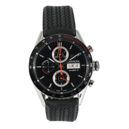 Tag Heuer Carrera CV2A1F Automatic Black 43mm Mens Watch