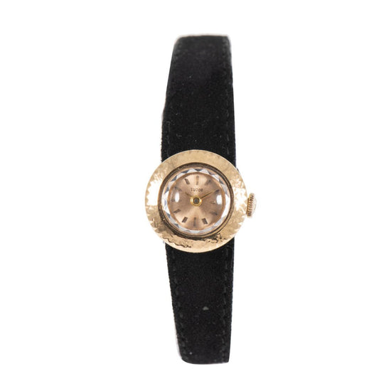 Tudor Vintage 18ct Gold & Champagne Manual Wind 16mm Ladies Watch