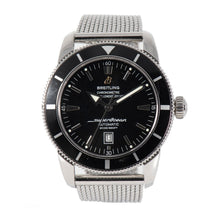 Load image into Gallery viewer, Breitling SuperOcean Heritage A17320 Steel & Black 46mm Mens Watch