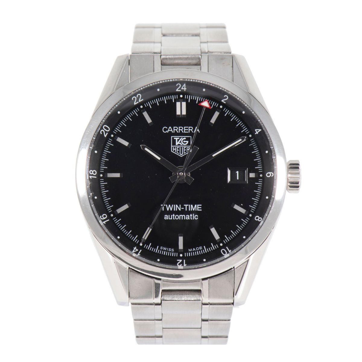 Tag Heuer Carrera Automatic WV2115-0 Steel Black Dial 39mm Mens Watch