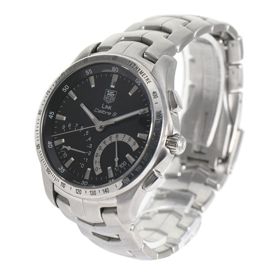 TAG Heuer Link Calibre CJF7110 Black & Steel 42mm Mens Watch