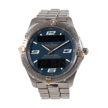 Load image into Gallery viewer, Breitling Aerospace F65362 Quartz Titanium Blue Dial 40mm Mens Watch