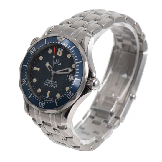 Omega Seamaster 36mm Blue Dial Quartz Mens Watch