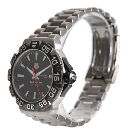 Tag Heuer Formula 1 WAH1110 Steel & Black 41mm Mens Watch
