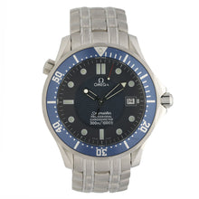 Load image into Gallery viewer, Omega Seamaster 41mm Blue & Stainless Steel Quartz Mens Watch
