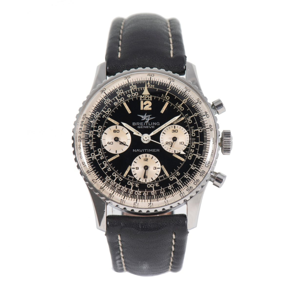 Breitling Navitimer 806 Chronograph Steel & Black 40.5mm Mens Watch
