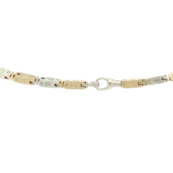9ct Bi-Colour Gold Fancy Chain 26 inches
