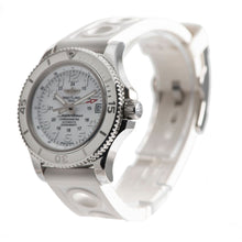 Load image into Gallery viewer, Breitling Superocean II A17312 Steel & White 36mm Mens Watch