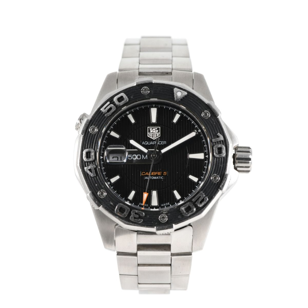 Tag Heuer Aquaracer WAJ2110 Steel Black 43mm Mens Watch