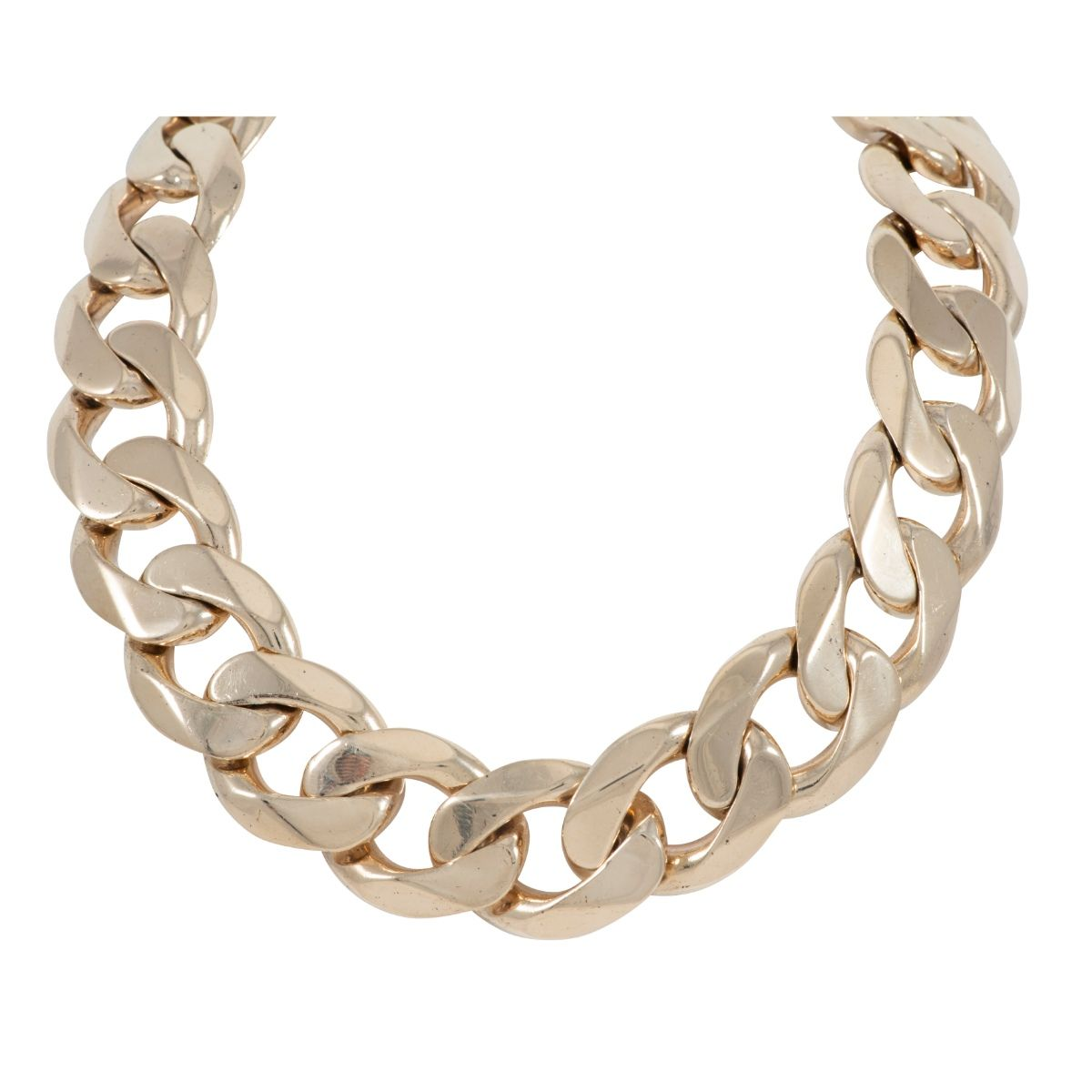 9ct Yellow Gold Curb Chain Mens 30 Inches