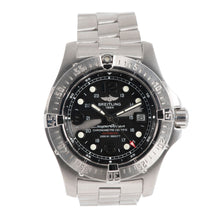 Load image into Gallery viewer, Breitling Superocean A17390 Steel & Black 44mm Mens Watch