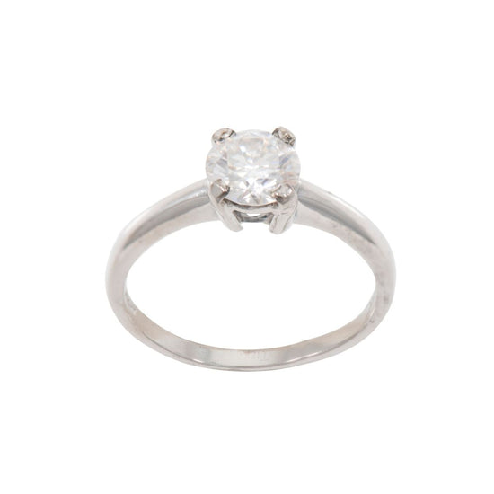 18ct White Gold 1.00ct Diamond Solitaire Ring Ladies Size O