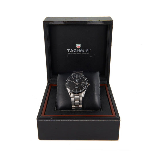 Tag Heuer Carrera WV211M Steel & Black 39mm Mens Watch