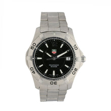 Load image into Gallery viewer, Tag Heuer Aquaracer WAF1110 Stainless Steel & Black 38mm Quartz Mens Watch
