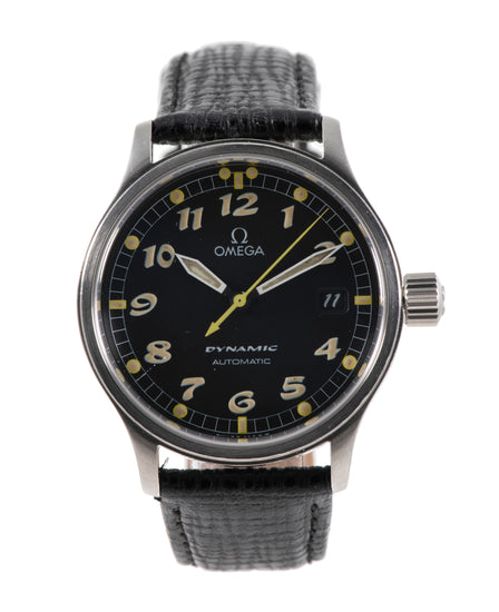 Omega Dynamic Steel & Black 36mm Mens Watch