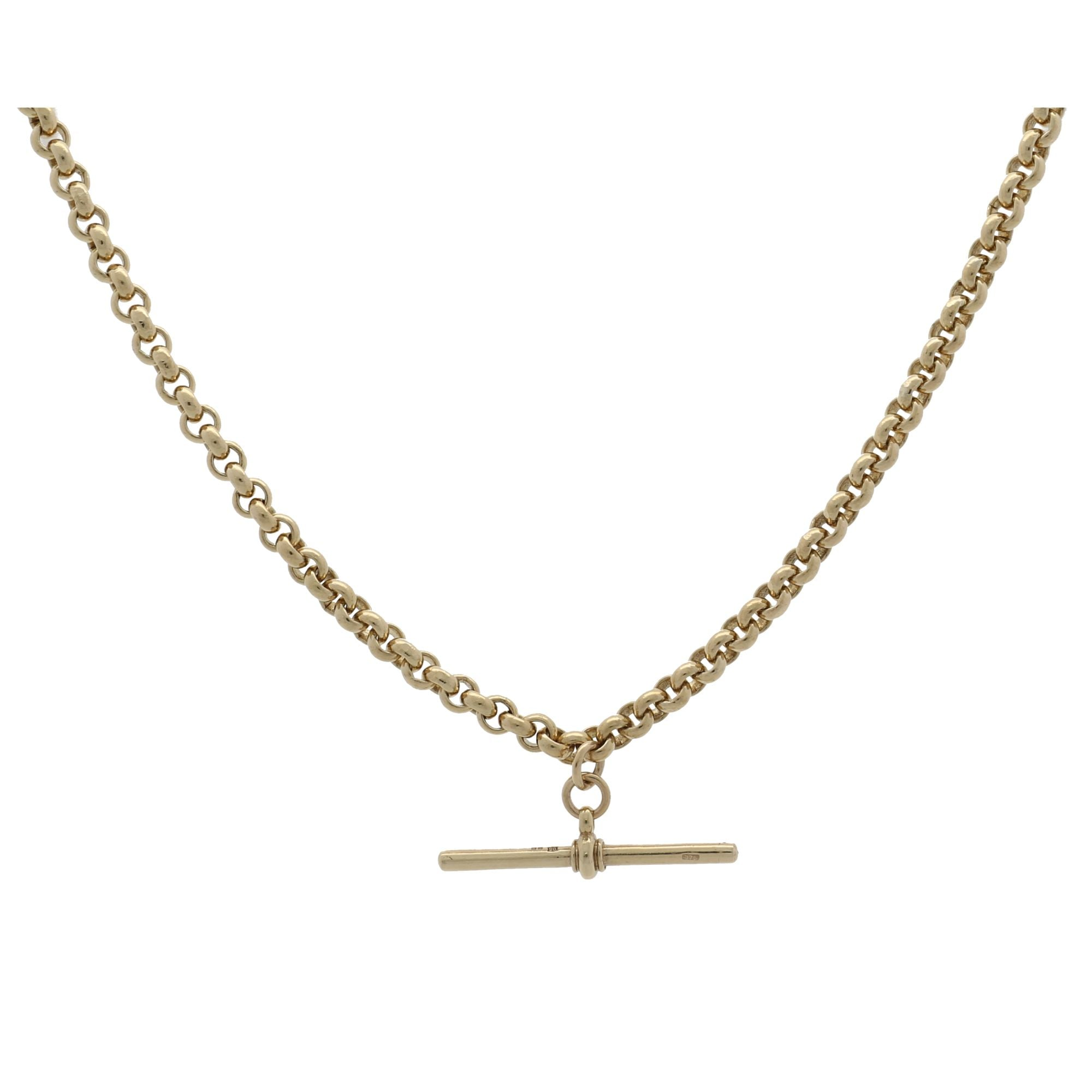 9ct Yellow Gold Mens Belcher Chain 20