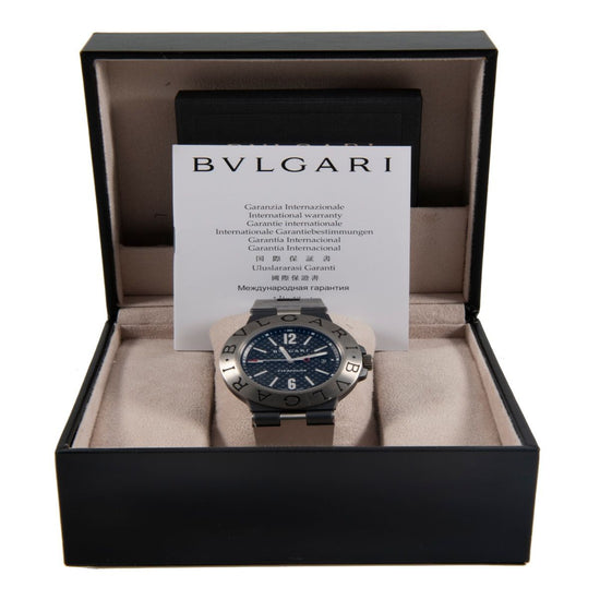 Bvlgari Diagono TI44TA Titanium & Black 44mm Mens Watch