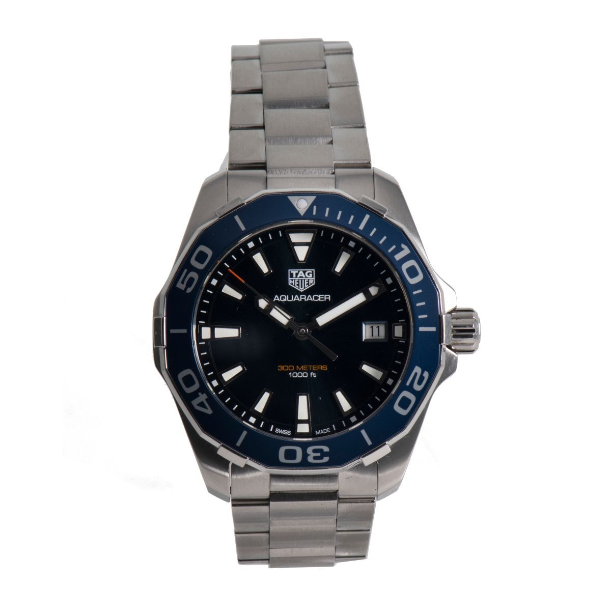 Tag Heuer Aquaracer WAY111C Mens Watch Steel & Blue 41mm