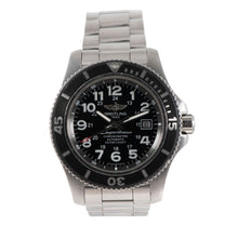 Load image into Gallery viewer, Breitling Superocean A17392 Steel & Black 44mm Mens Watch