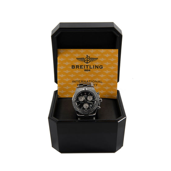 Breitling Colt A73380 Steel & Black Quartz 41mm Mens Watch