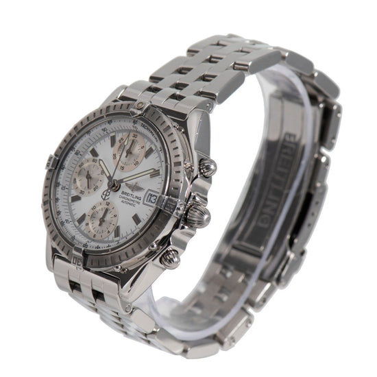 Breitling Chronomat A13352 Steel & White 38mm Mens Watch