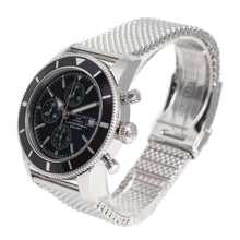 Load image into Gallery viewer, Breitling Superocean A13320 Chronograph Steel & Black Mens 46mm